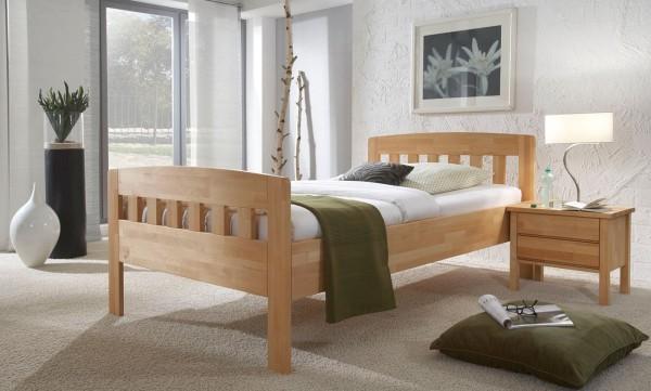 A Komfort Seniorenbett mit Sprossen