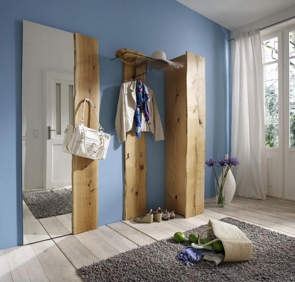 Woodline Garderobe Eiche massiv geölt Sägerauh | Woodline ...
