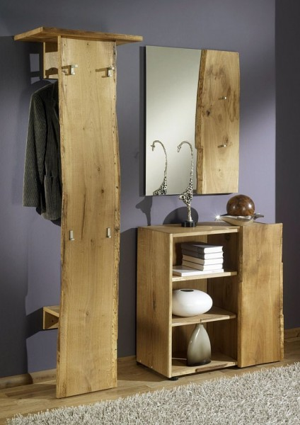 woodline garderobe eiche massiv ge lt woodline garderobe. Black Bedroom Furniture Sets. Home Design Ideas