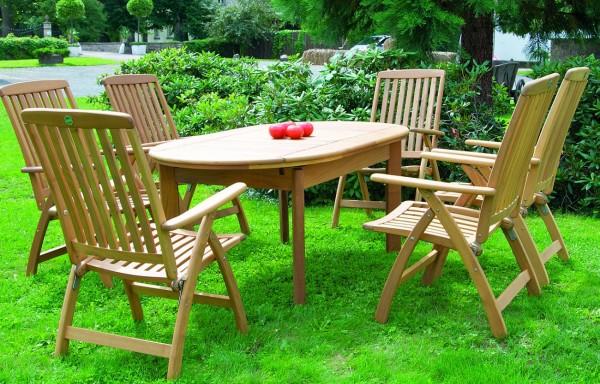 Riva Garten-Sitzgarnitur Robinie natur