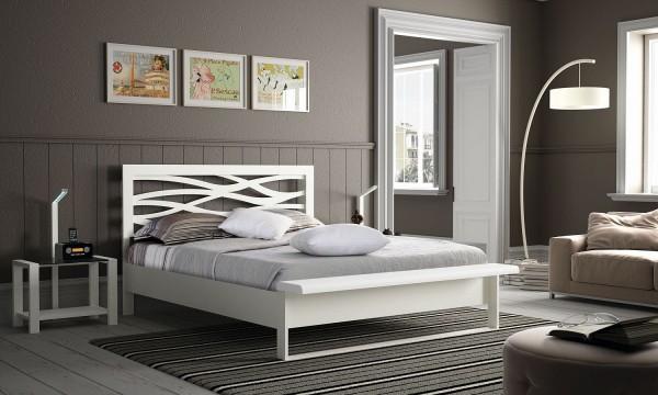 A Brio Mosaic Metallbett mit integrierter Bettbank