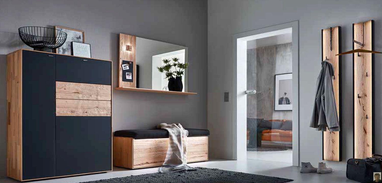 Talis Garderobe Riffbuche massiv gebürstet | Ursula`s Möbelwelt