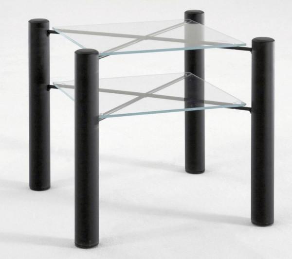 Christina Nachttisch mit 2 Glasablageplatten