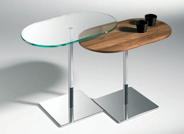 Zweisatz Tische in Metall+Holz