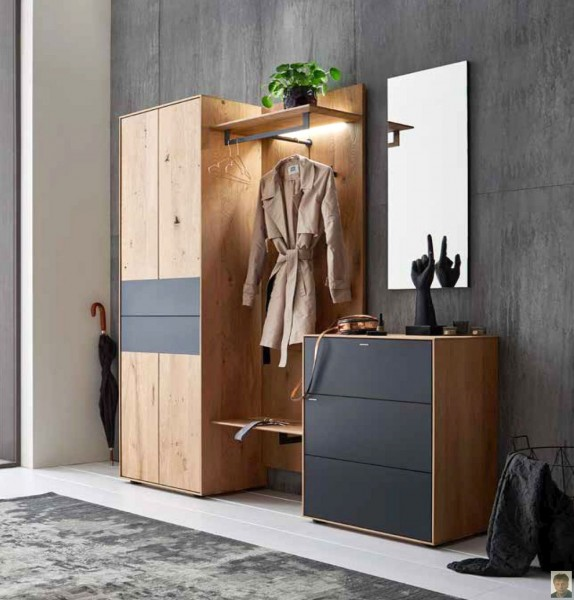 runa garderobe kerneiche natur geb rstet ursula s m belwelt. Black Bedroom Furniture Sets. Home Design Ideas