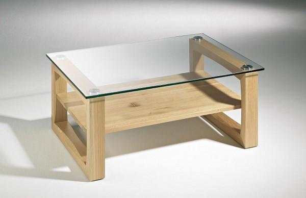 Couchtisch Glas Holz Und Metall Hasse Tischcollection