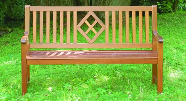 Meran Gartenbank Mahagoni Natur lackiert