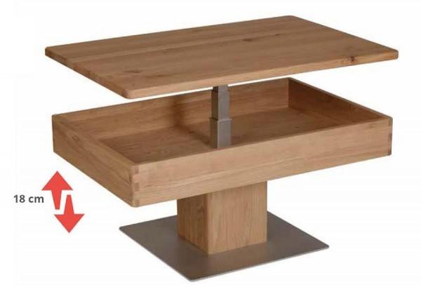 Couchtisch mit Diagonal verschiebbare Tischplatte