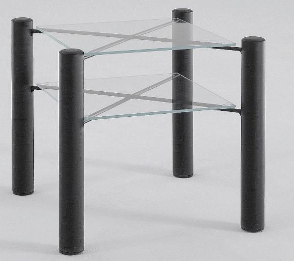 Rhodos Nachttisch mit 2 Glasablagen