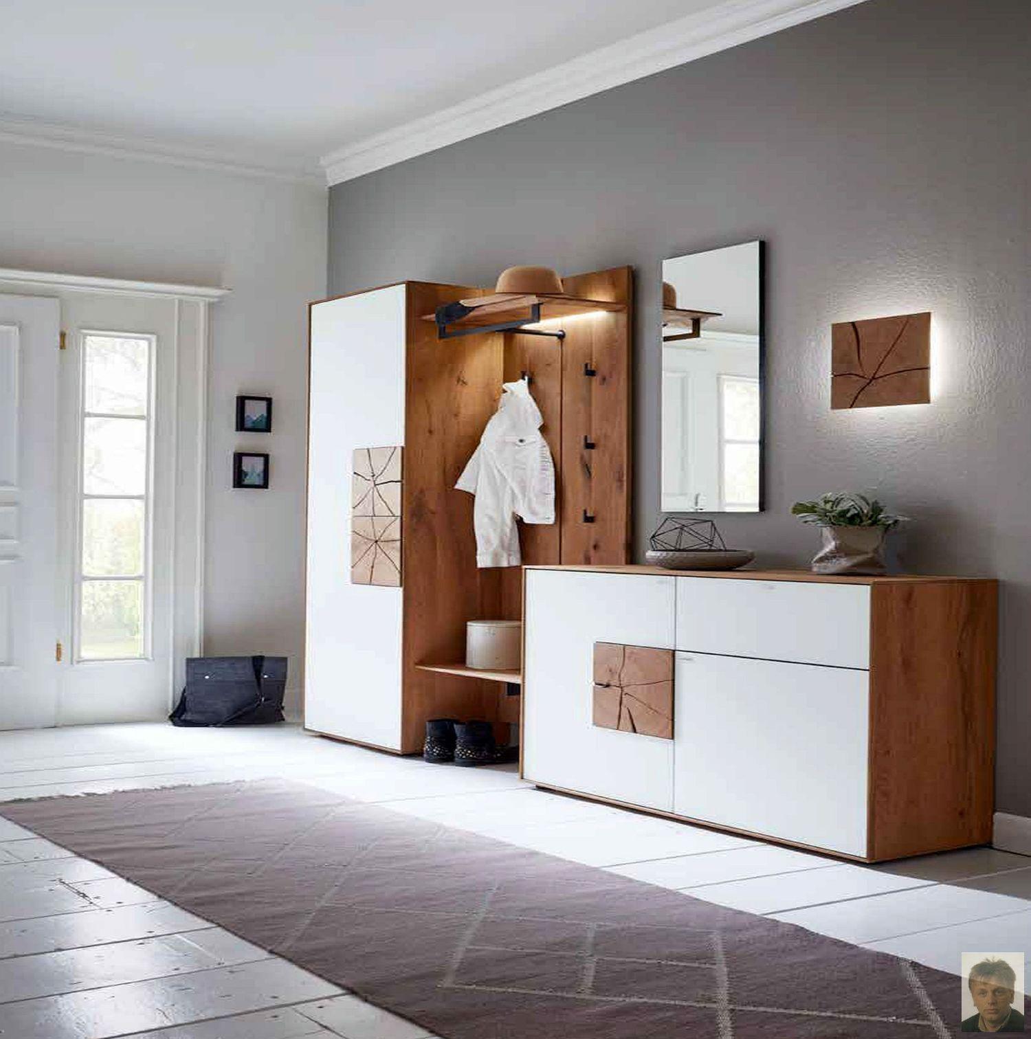 caya garderobe kerneiche umato massiv geb rstet garderoben dielenm bel flurm bel m bel. Black Bedroom Furniture Sets. Home Design Ideas