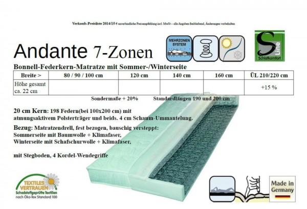Andante Bonnell Federkern-Matratze